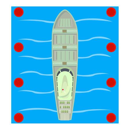 Roro ship icon, isometric style