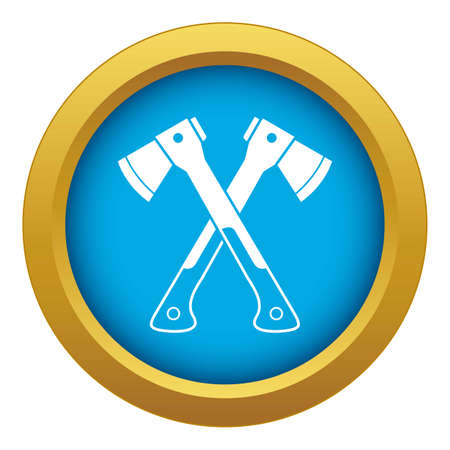 Crossed axes icon blue isolated
