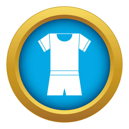 Sport shirt and shorts icon blue isolated