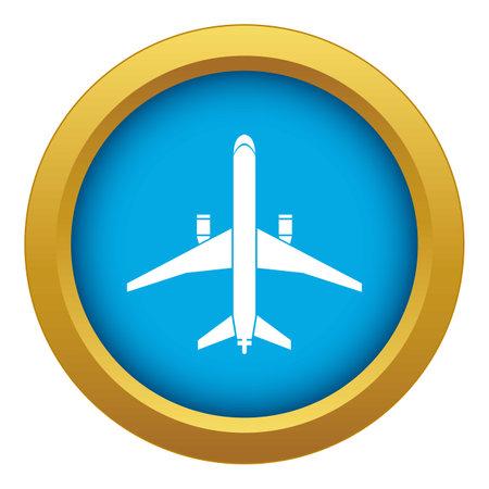 Plane icon blue isolated