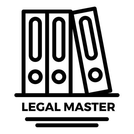 Legal master folder icon. Outline legal master folder icon for web design isolated on white background 版權商用圖片