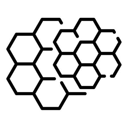 Honey comb icon. Outline honey comb icon for web design isolated on white background