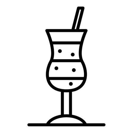 Cold glass cocktail icon. Outline cold glass cocktail icon for web design isolated on white background