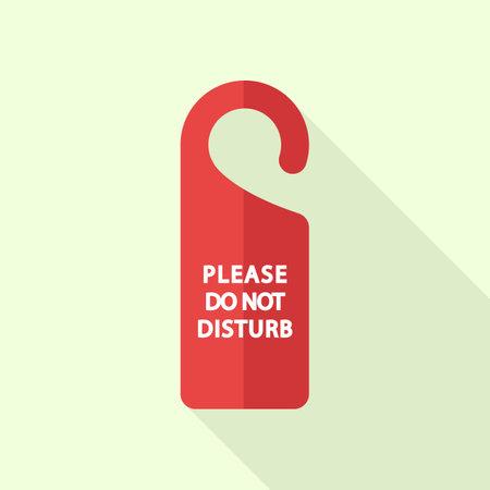 Please dont disturb room tag icon. Flat illustration of please dont disturb room tag icon for web design