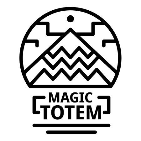 Magic totem icon. Outline magic totem icon for web design isolated on white background Stock Photo