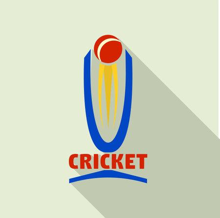 Cricket cup logo. Flat illustration of cricket cup logo for web design