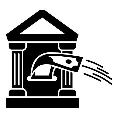 Bank money cash icon. Simple illustration of bank money cash icon for web design isolated on white background Stock Photo