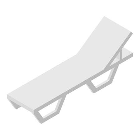 Beach chair icon, isometric style Banque d'images