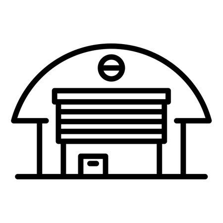 Farm warehouse icon, outline style