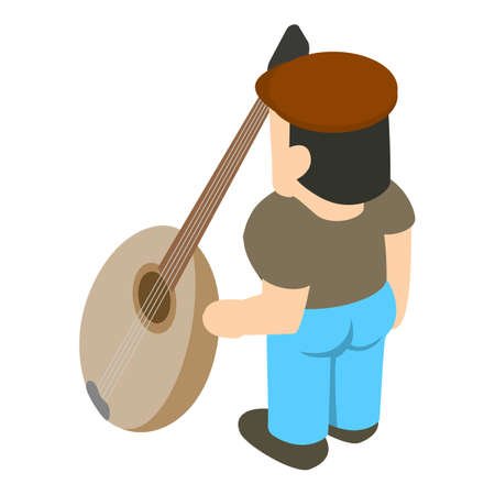 Musician icon, isometric style