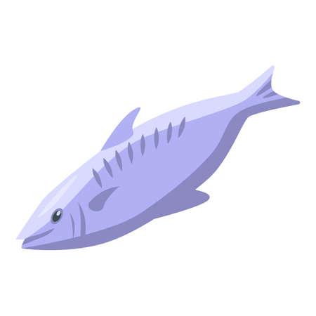 Mink fish icon, isometric style