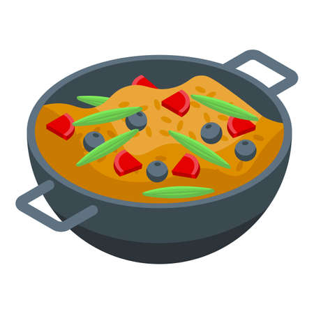 Turkish cuisine icon, isometric style
