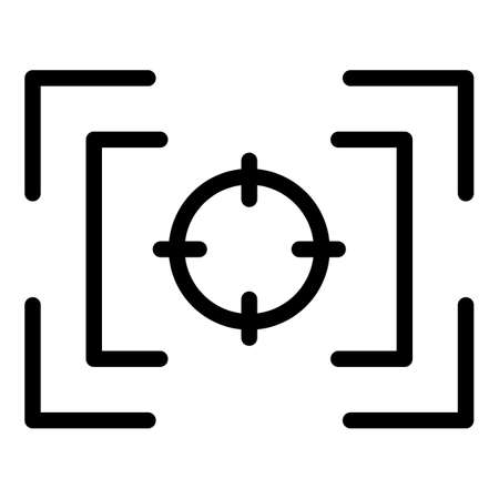 Center focus icon, outline style