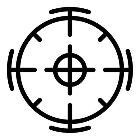 Focus point icon, outline style