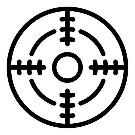 Focus objective icon, outline style
