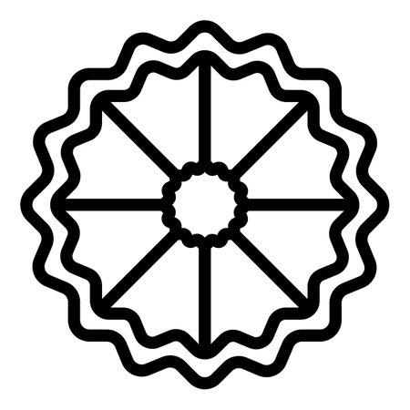 Bergamot slice icon, outline style