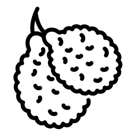 Bergamot citrus icon, outline style