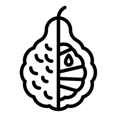 Balm bergamot icon, outline style Vettoriali