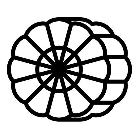 Medicine bergamot icon, outline style Vettoriali