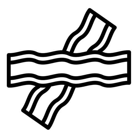 Bacon slice icon, outline style