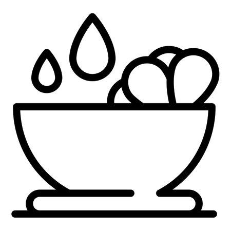 Canola bowl icon, outline style