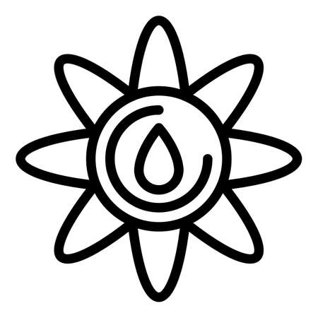 Organic canola oil icon, outline style