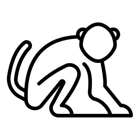 Mammal gibbon icon, outline style