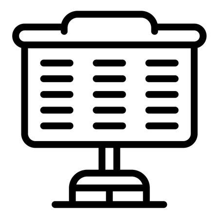 Desk event icon, outline style Ilustración de vector