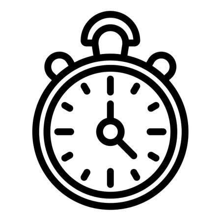 Problem stopwatch icon, outline style