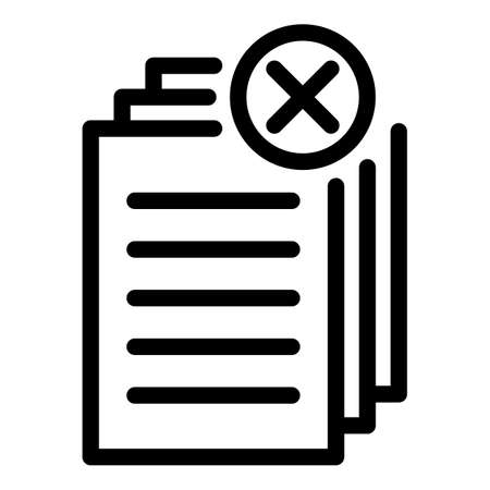 Request papers icon, outline style