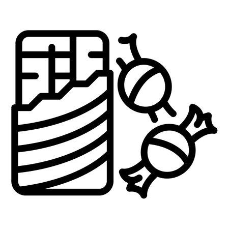 Chocolate bar bonbon icon, outline style