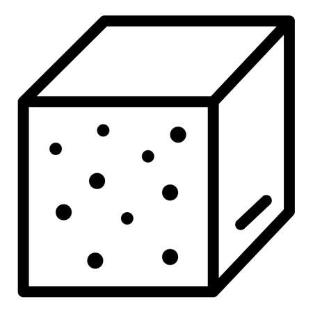 Sweet sugar icon, outline style