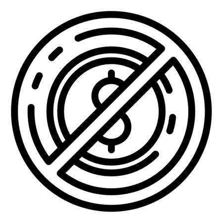 No money laundering icon, outline style