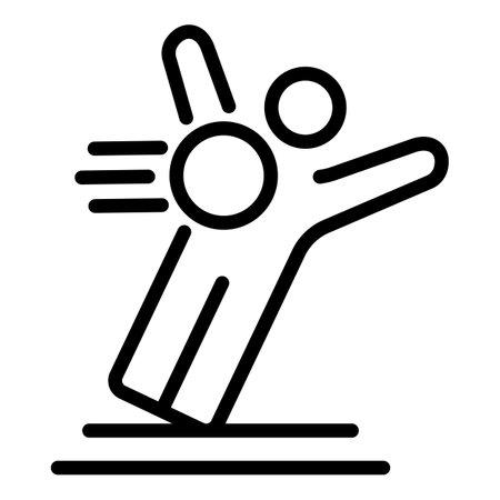 Soccer goalkeeper icon, outline style