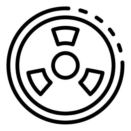 Radiation circle icon, outline style