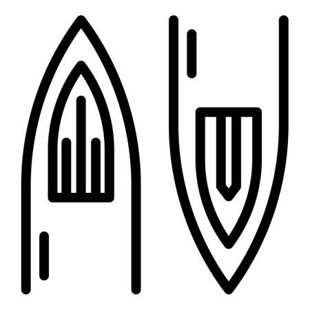 Tattoo needle icon, outline style