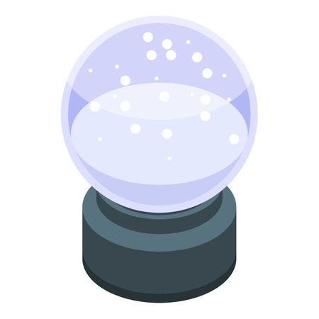 Empty snowglobe icon, isometric style