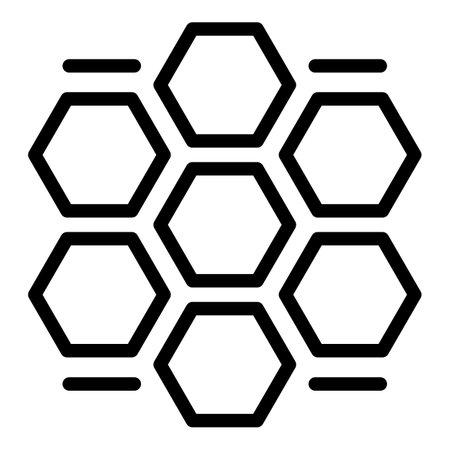 Honey comb procedure icon, outline style Stock fotó