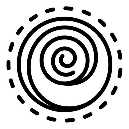 Hypnosis counseling icon, outline style