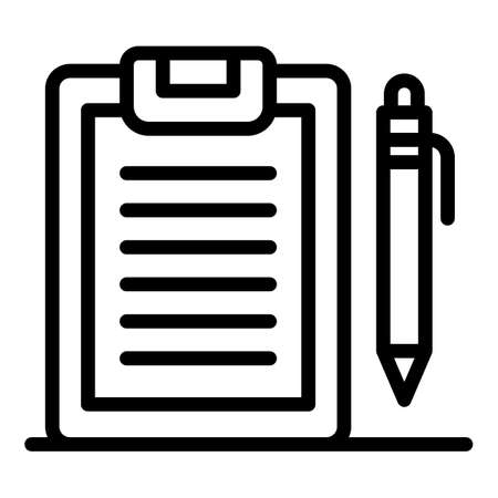 Divorce clipboard icon, outline style Banque d'images