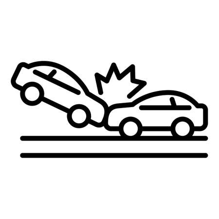 Transport accident icon, outline style