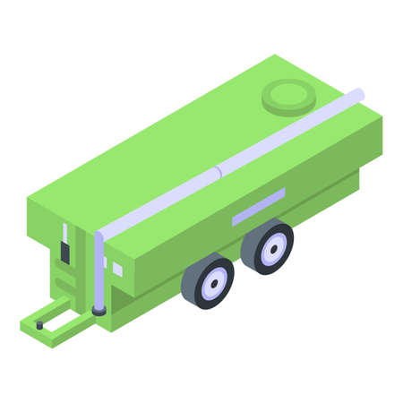 Tractor cistern icon, isometric style 写真素材
