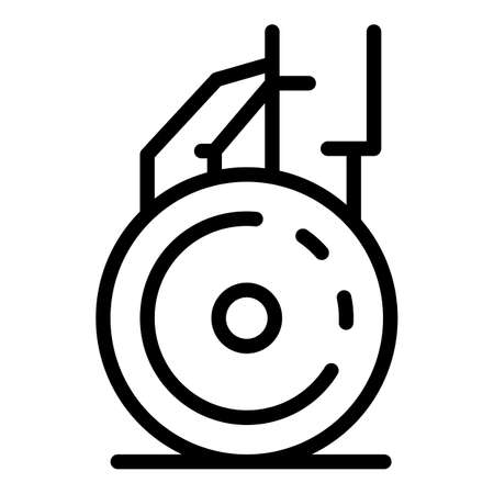 Wheel aircraft repair icon, outline style