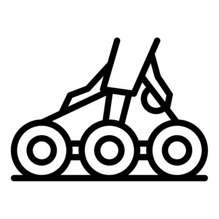 Wheels aircraft repair icon, outline style Stock Photo