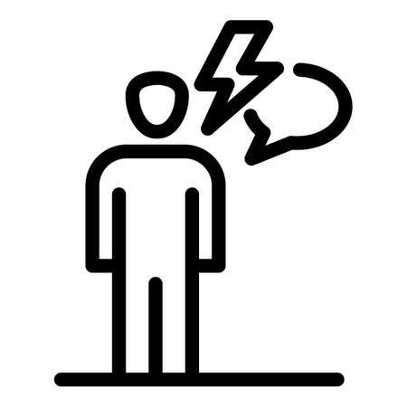 Mood man stress icon, outline style