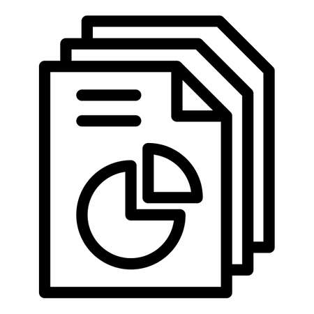 Conversion rate papers icon, outline style Stock fotó