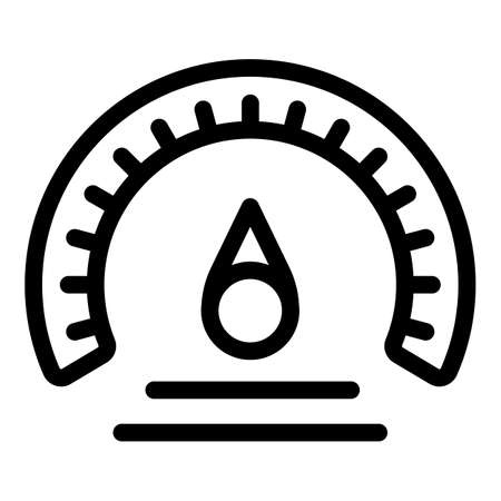 Barometer measurement icon, outline style