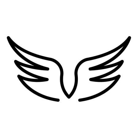 Heraldic wings icon, outline style Archivio Fotografico