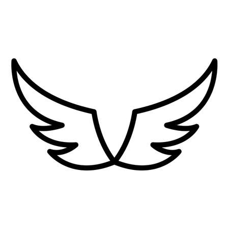 Decoration wings icon, outline style