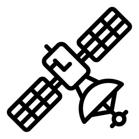 Digital station satellite icon, outline style Banque d'images